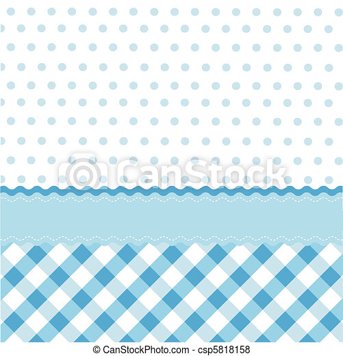 bebé azul, seamless, patrón - csp5818158