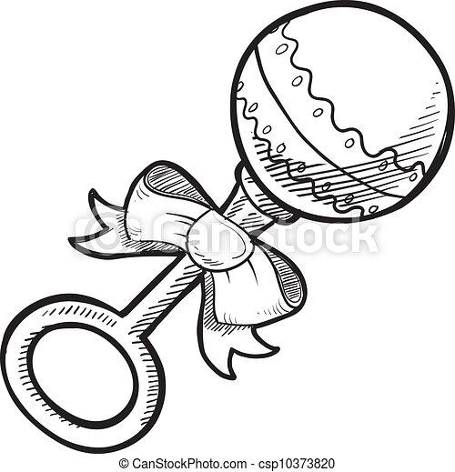 Dibujo de cascabel - csp10373820
