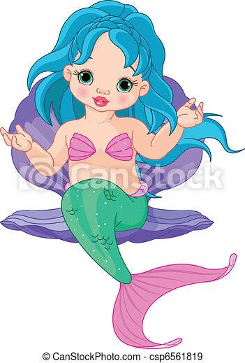 Beb c scara sirena lindo c scara sentado - Colorazione sirena pagina sirena ...