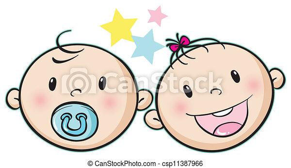 bebé, caras - csp11387966
