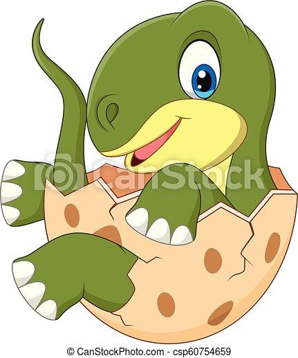 Dinosaurio Bebe De Dibujos Animados Ilustracion Vectorial De Dinosaurio Bebe De Cartoon Canstock Los dinosaurios (denominación científica dinosauria, del griego deinos + saurus, lagartos terribles) son un grupo de. dinosaurio bebe de dibujos animados