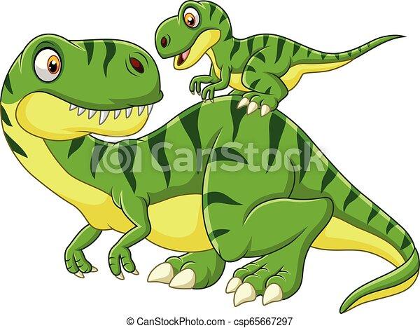 Madre De Dibujos Animados Y Dinosaurios Bebes Ilustracion De Vectores De Madre Cartoonia Y Dinosaurio Bebe Canstock Rabit dinosaurios animados es una aplicación con 9 modelos 3d de dinosaurios animados con efectos de sonido. madre de dibujos animados y dinosaurios