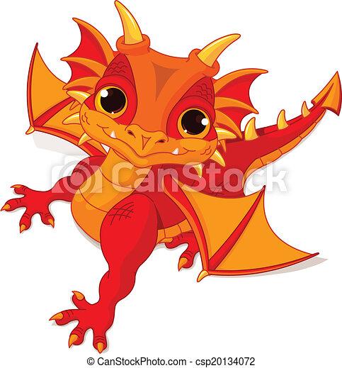 Bebé dragón - csp20134072