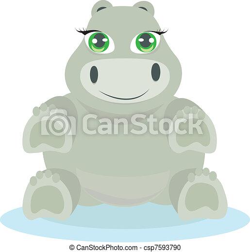 Hipo de bebé ilustración - csp7593790