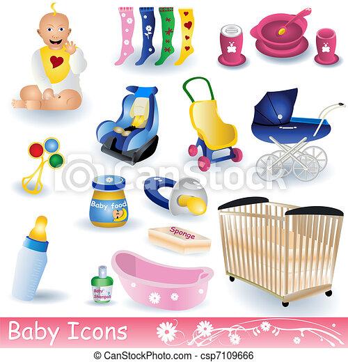 bebé, iconos - csp7109666