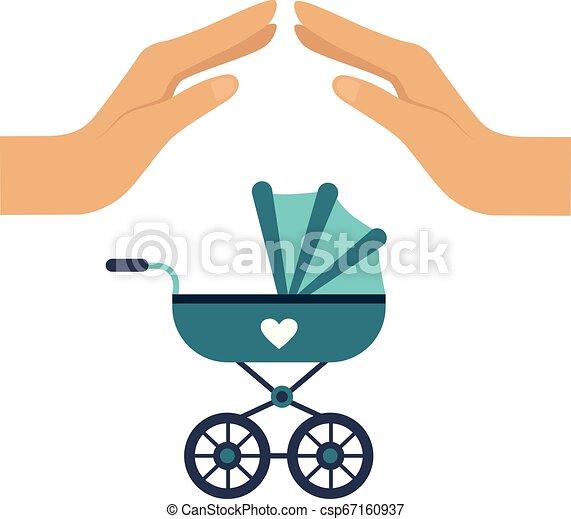 Ilustración de vector de seguros de bebé - csp67160937
