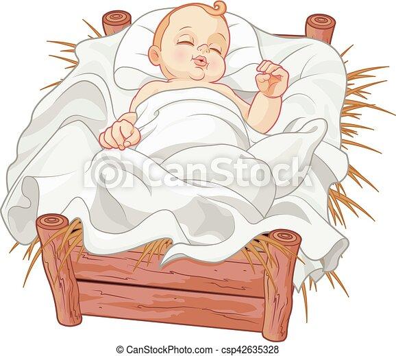 Bebé Jesús dormido - csp42635328