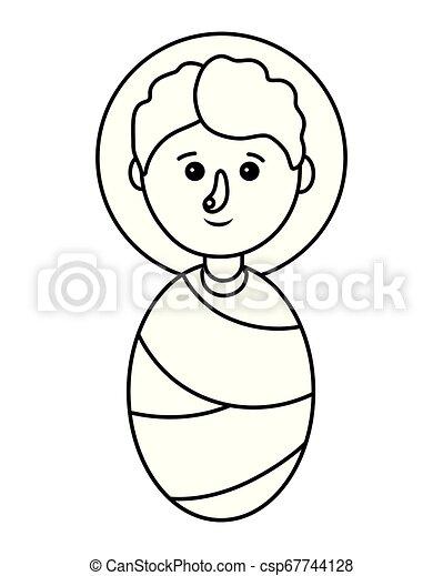 Lindo Dibujo De Bebe Lindo Vector De Dibujos Animados Para Bebes
