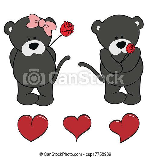 Panther bebé lindos dibujos animados - csp17758989