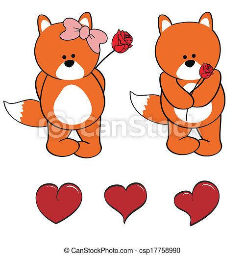 Fox bebé lindos dibujos animados - csp17758990