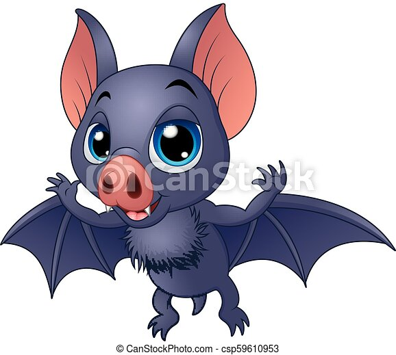 Lindo murciélago volador - csp59610953