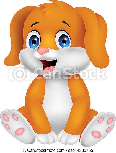 Bonita caricatura de perro bebé - csp14335765