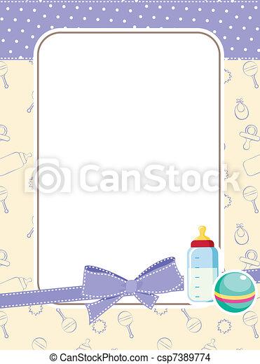 Un marco de bebé - csp7389774