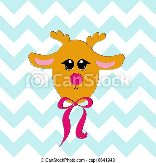 El reno bebé es la primera Navidad - csp16641943