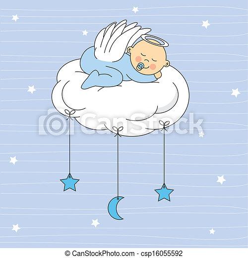 Niño vestido de ángel - csp16055592