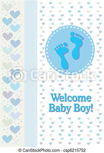 Pisadas de bebé anuncian el nacimiento - csp6215752