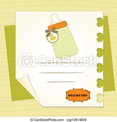 Nueva tarjeta de anuncio de bebé - csp13614609