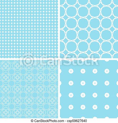 Bebé pastel diferentes patrones sin costura. - csp59627640