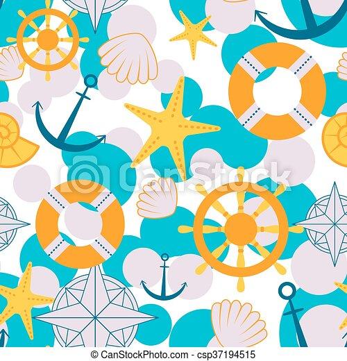Bebé, patrón, marinero, seamless. Anclas, patrón, marinero,... clip ...