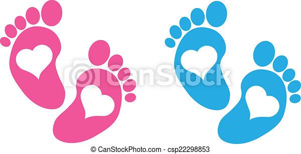 bebé pies - csp22298853