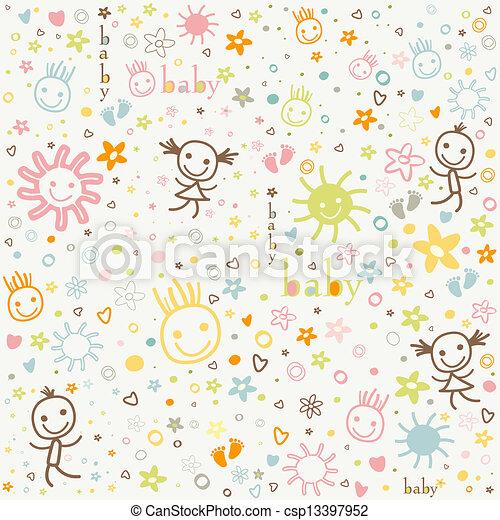 bebé, plano de fondo - csp13397952