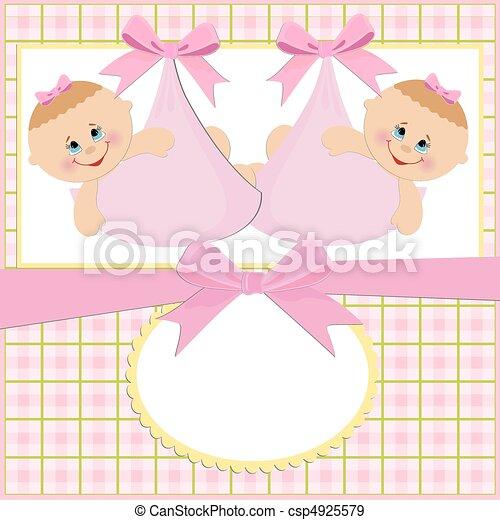bebé, saludos, tarjeta - csp4925579