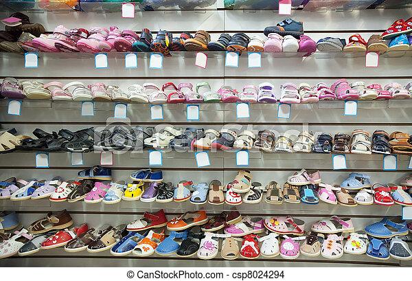 c3a8e9d2 Bebé, tienda, shoes. Tienda, bebé, mostrador, shoes, moderno.