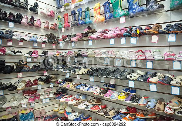 36861471 Bebé, tienda, shoes, moderno. Tienda, bebé, mostrador, shoes, moderno.