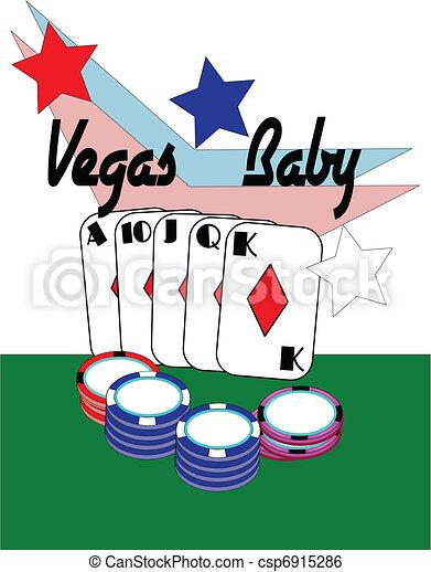 Las Vegas bebé - csp6915286
