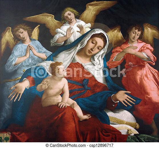 Bebé Virgen Maria Bendito Jesús Bendito Jesús Virgen Bebé