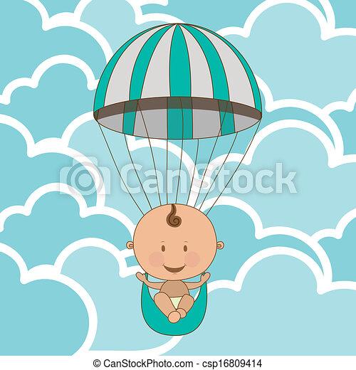 bebê, chegada - csp16809414