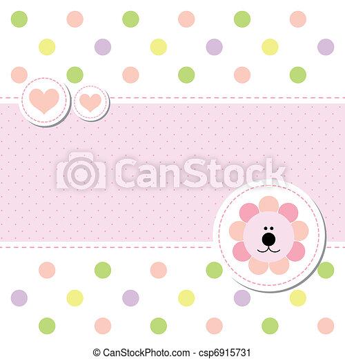 bebê, chegada, desenho, cartão, anúncio - csp6915731