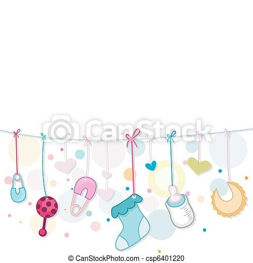 bebê, coisas - csp6401220