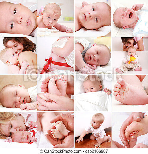 bebê, colagem, gravidez - csp2166907