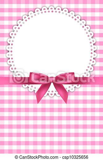 bebê, cor-de-rosa, guardanapo, fundo - csp10325656