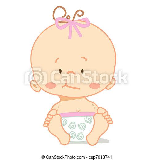 bebê, cute - csp7013741