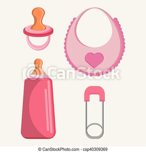beb desenho babador garrafa pacifier csp40309369