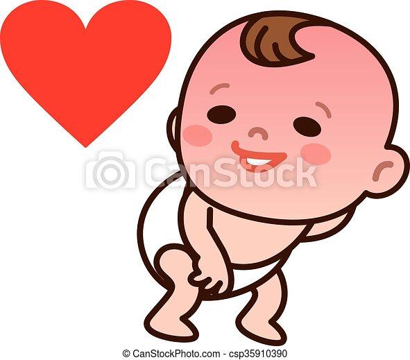 bebê envergonhado tu illustration original drawing vetorial
