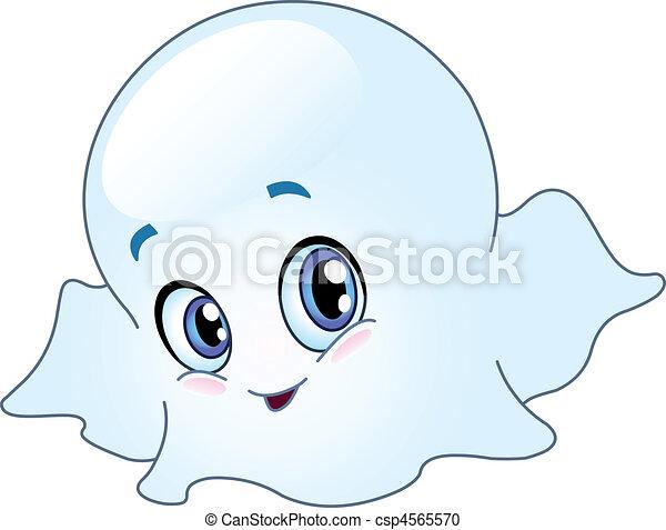 bebê, fantasma - csp4565570