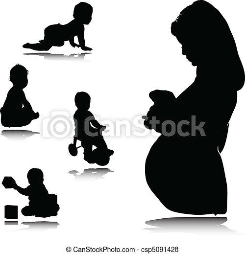 bebê, grávida, mãe - csp5091428