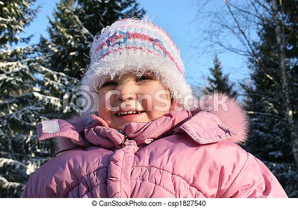 bebê, inverno - csp1827540