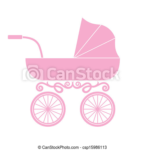bebê, pram, carruagem, - - csp15986113