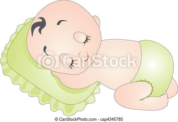 bebê, vetorial - csp4345785