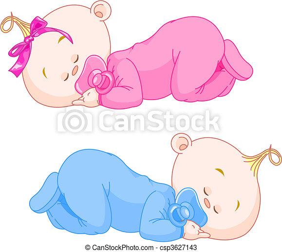 bebês, dormir - csp3627143