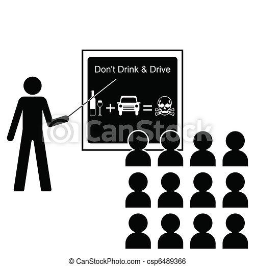 bebida, conducción - csp6489366