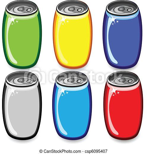 Un juego de latas coloridas - csp6095407