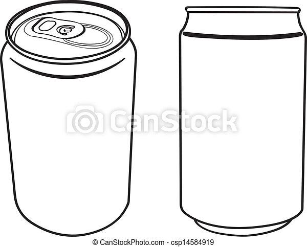 La bebida puede delinear el vector - csp14584919