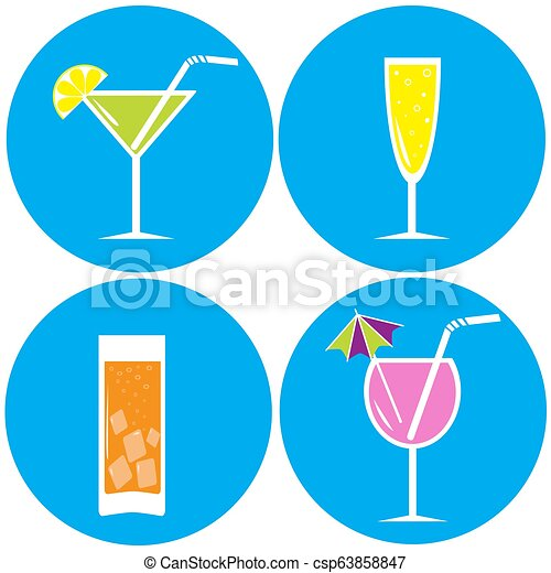 Unas copas, cócteles - csp63858847