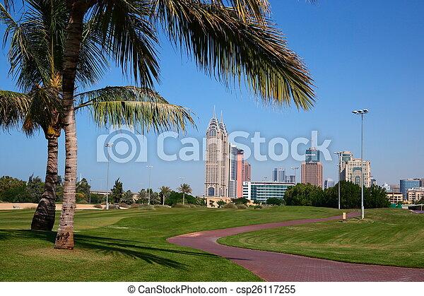 bebyggelse, nymodig, förenad arabiska emirat, dubai - csp26117255