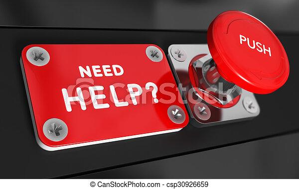 Ich brauche Hilfe - csp30926659